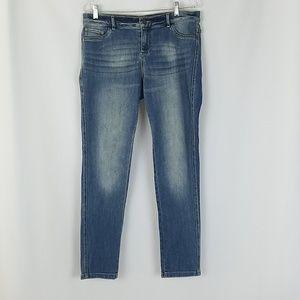 NY & Co. women 12 jeans skinny legging blue